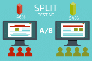 A/B testing graphic