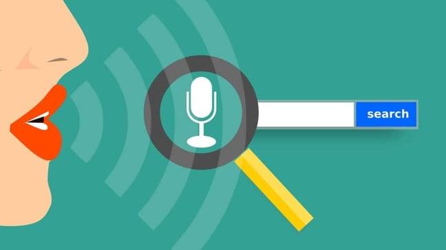 Voice search graphic.