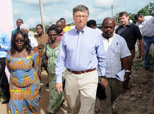 Bill Gates doing charity work