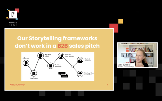 April Dunford on storytelling frameworks