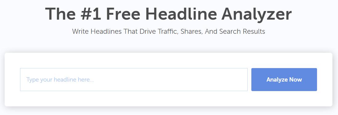 CoSchedule's Headline Analyzer search bar.