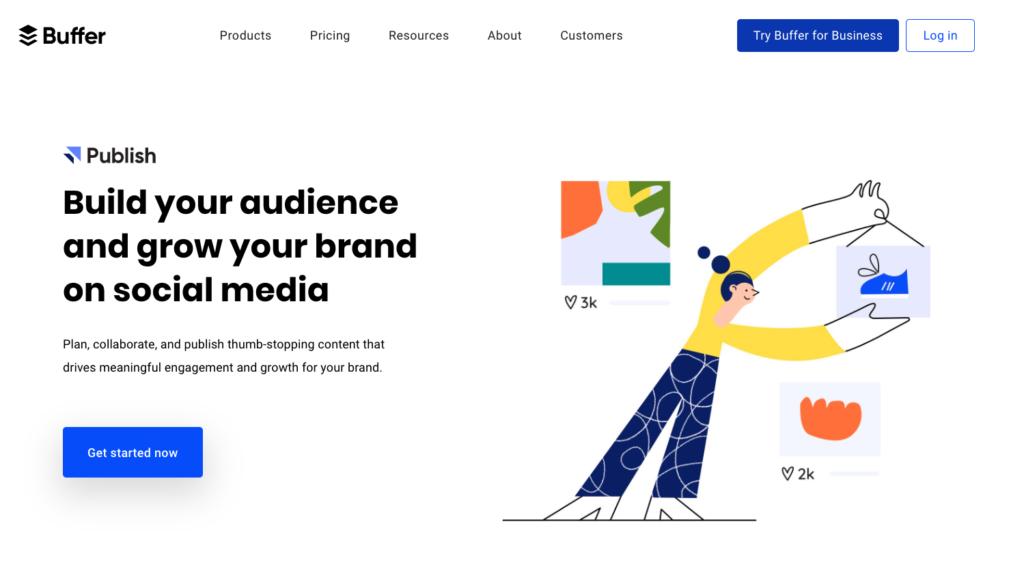 B2B SaaS Website buffer homepage